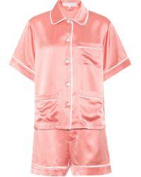 Olivia Von Halle - Millicent Silk Pyjama Set - Lyst