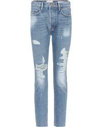 FRAME - Le Original Skinny Distressed Jeans - Lyst