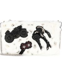 Miu Miu - Embellished Fur Clutch - Lyst