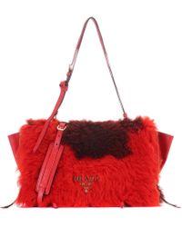 Prada - All Designer Products - Etiquette Leather Shoulder Bag - Lyst