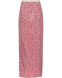 Oscar de la Renta - Floral Jacquard Skirt - Lyst