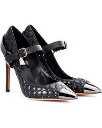 Valentino - Escarpins en cuir Rockstud - Noir