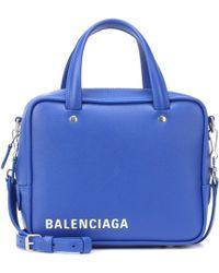 Balenciaga - Triangle Square Xs Leather Shoulder Bag - Lyst