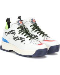 Fendi Sneakers T-Rex aus Leder und Mesh - Weiß