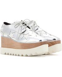 Stella McCartney - Britt Metallic Platform Derby Shoes - Lyst
