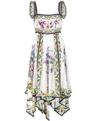 Dolce & Gabbana | Printed Silk Dress | Lyst
