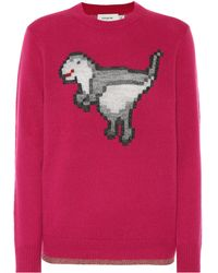 COACH - Pixel Rexy Wool And Cashmere Jumper - Lyst