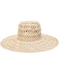 b845fa8240f Lyst - Sombrero fedora bajo Lola Hats de color Negro