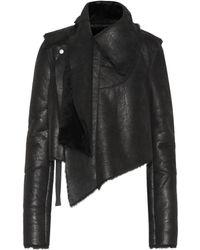 Unravel - Asymmetric Shearling Jacket - Lyst