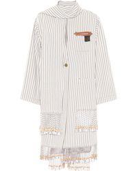 Loewe - X Paula's Ibiza Embellished Cotton-blend Coat - Lyst