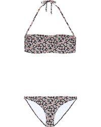 Tomas Maier - Floral Printed Two-piece Swim Suit - Lyst