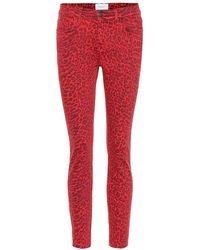 Current/Elliott - Jeans skinny The Stiletto a stampa - Lyst