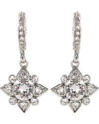 Oscar de la Renta - Swarovski Crystal-embellished Earrings - Lyst