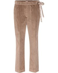 Brunello Cucinelli - Side Tie Corduroy Trackpants - Lyst