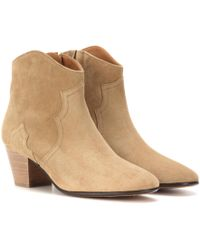 Isabel Marant - Dicker Suede Ankle Boots - Lyst