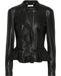 Altuzarra - Ruffled Leather Jacket - Lyst
