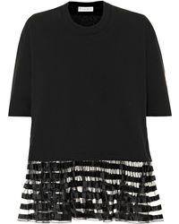 JW Anderson - Organza Trimmed Cotton T-shirt - Lyst