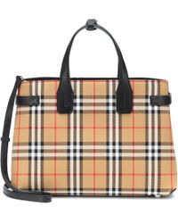 Burberry - The Medium Banner Check Tote - Lyst