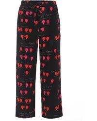 Alexander McQueen - Printed Silk Trousers - Lyst