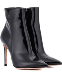 Gianvito Rossi - Levy Leather Ankle Boots - Lyst