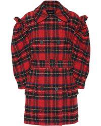 Simone Rocha - Checked Wool-blend Coat - Lyst