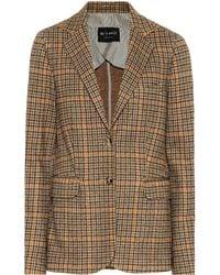 Etro - Houndstooth Wool-blend Blazer - Lyst