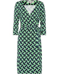 Diane von Furstenberg - New Julian Printed Silk Wrap Dress - Lyst