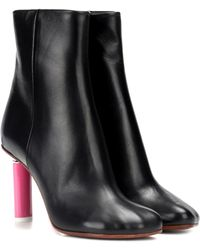 Vetements - Lighter-heel Leather Ankle Boots - Lyst