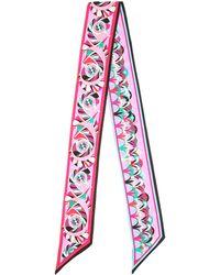 Emilio Pucci - Printed Silk Headscarf - Lyst