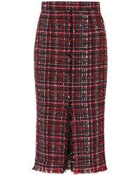 Alexander McQueen - Tweed Skirt - Lyst