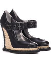 Bottega Veneta - Satin Espadrille Wedges - Lyst