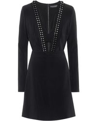 David Koma - Studded Crêpe Dress - Lyst