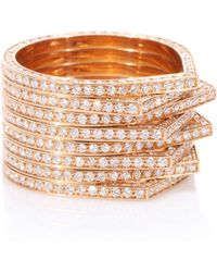 Repossi - Antifer 18kt Rose Gold Ring With White Diamonds - Lyst