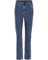 CALVIN KLEIN JEANS EST. 1978 High-rise Straight-leg Trousers - Blue