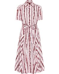Burberry - Sacha Printed Cotton Poplin Dress - Lyst