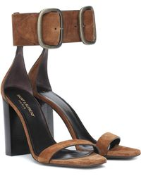 Saint Laurent - Loulou Suede Sandals - Lyst