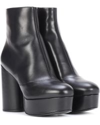 5b7af43a9b55 Marc Jacobs - Leather Plateau Ankle Boots - Lyst