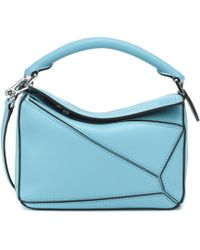 deb7f2c60a8f Lyst - Loewe White Leather Small Puzzle Bag in White