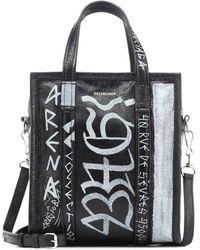 581c7b938 Balenciaga - Bazar S Graffiti Leather Shopper - Lyst