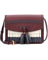 Burberry - Brogue Detail Leather Shoulder Bag - Lyst