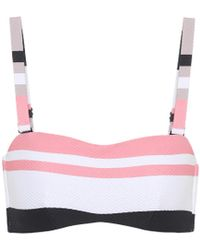 Beautiful Bottoms - Bold Stripe Wrap Bandeau Bikini Top - Lyst