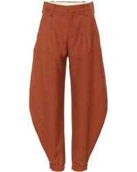 Chloé - High-waisted Wool Trousers - Lyst