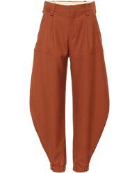 Chloé - Pantalones al tobillo de lana - Lyst