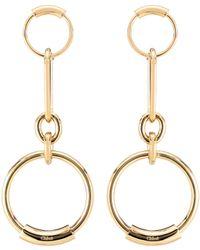 Chloé - Hanging Loop Earrings - Lyst