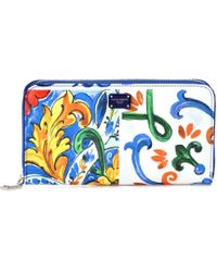Dolce & Gabbana - Printed Leather Wallet - Lyst