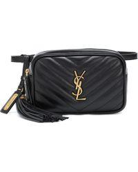 Saint Laurent - Lou Leather Belt Bag - Lyst