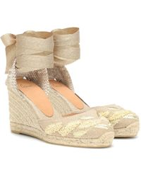 Castaner - Carina Embroidered Wedge Espadrilles - Lyst