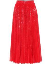 5f059bb6b0 MSGM - Sequined Pleated Midi Skirt - Lyst