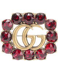 Gucci   Crystal-embellished Brooch   Lyst