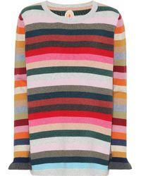Jardin Des Orangers - Striped Wool-blend Sweater - Lyst